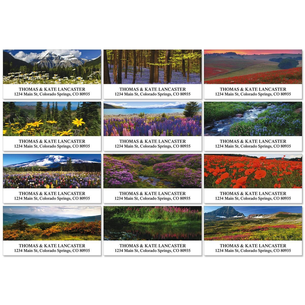 Wildflower Escape Deluxe Address Labels  (12 Designs)