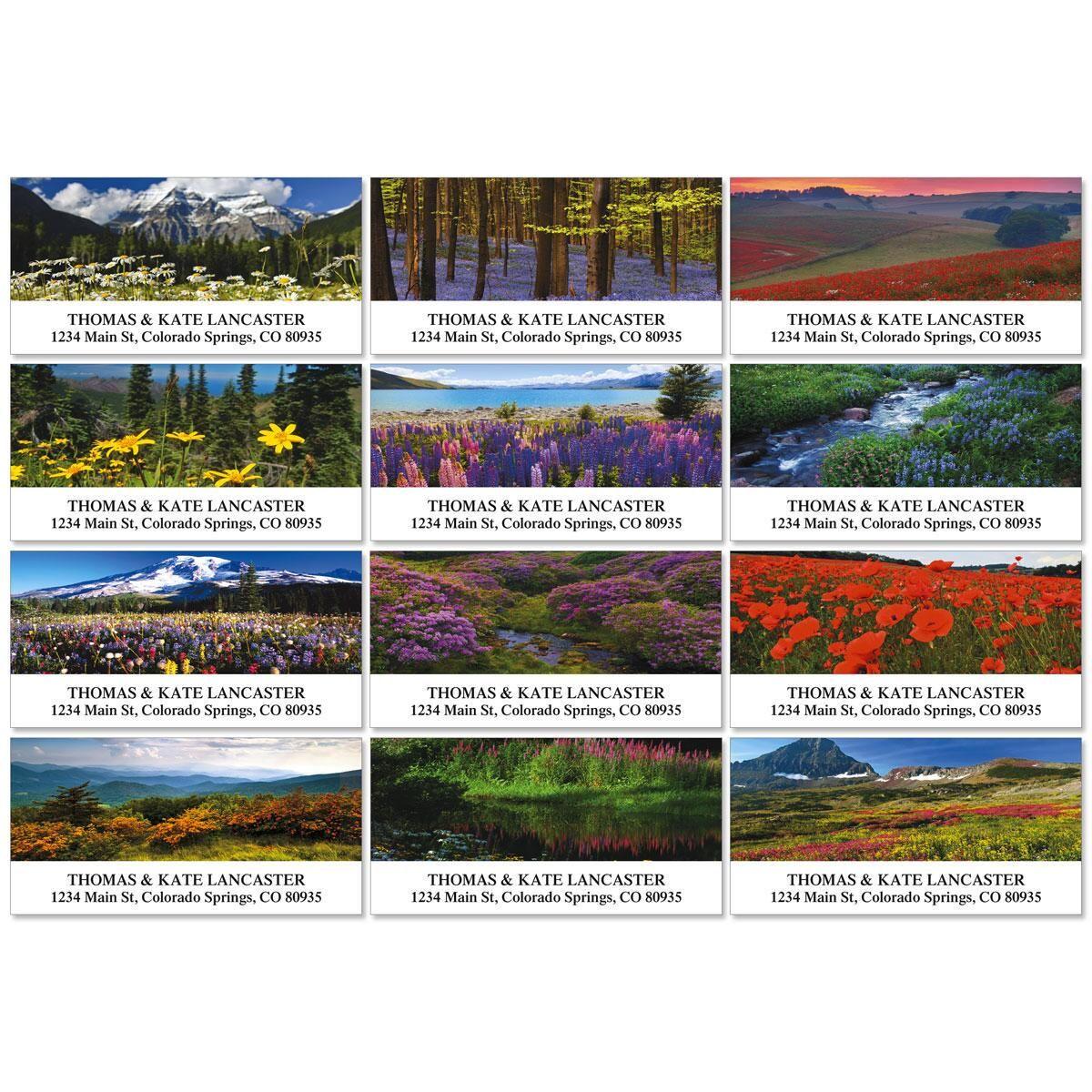 Wildflower Escape Deluxe Address Labels  (12 Designs)
