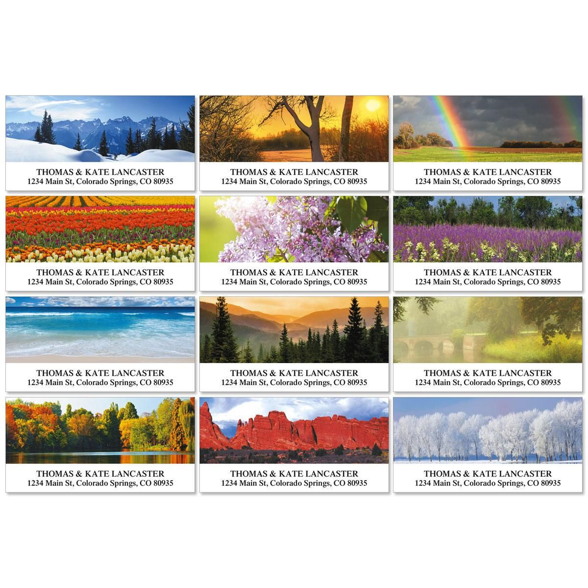Nature';s Art Deluxe Address Labels  (12 designs)