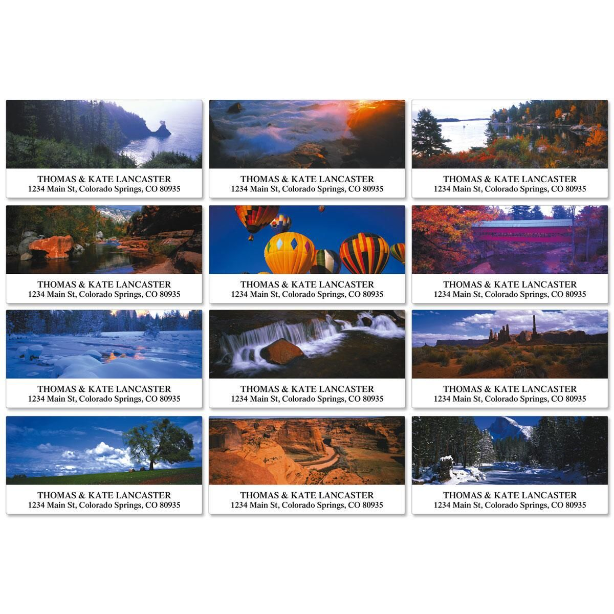 Panoramic View Deluxe Address Labels  (12 Designs)