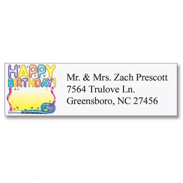Birthday Classic Address Labels  (6 designs)