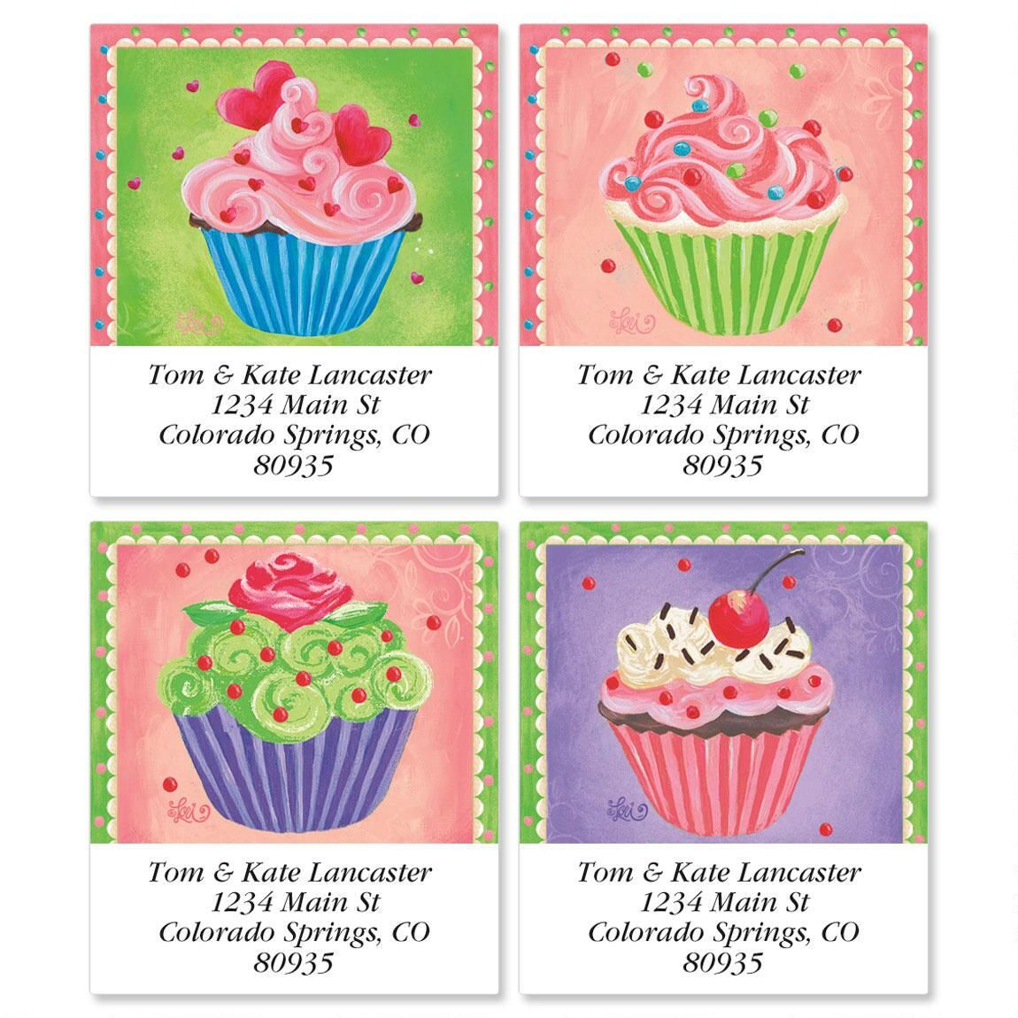 Cupcakes Select Address Labels  (4 designs)