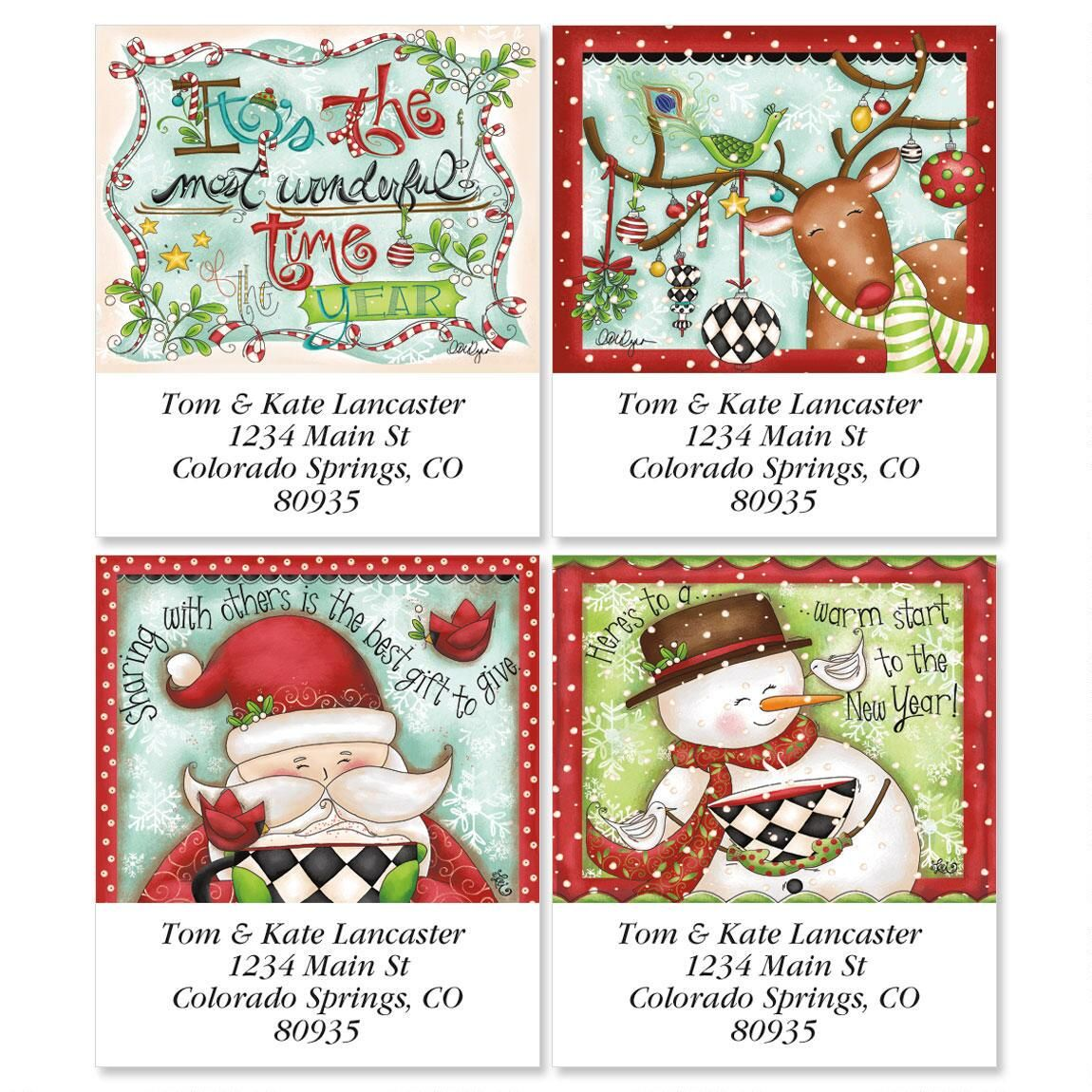 Reindeer Dressup Select Address Labels  (4 designs)
