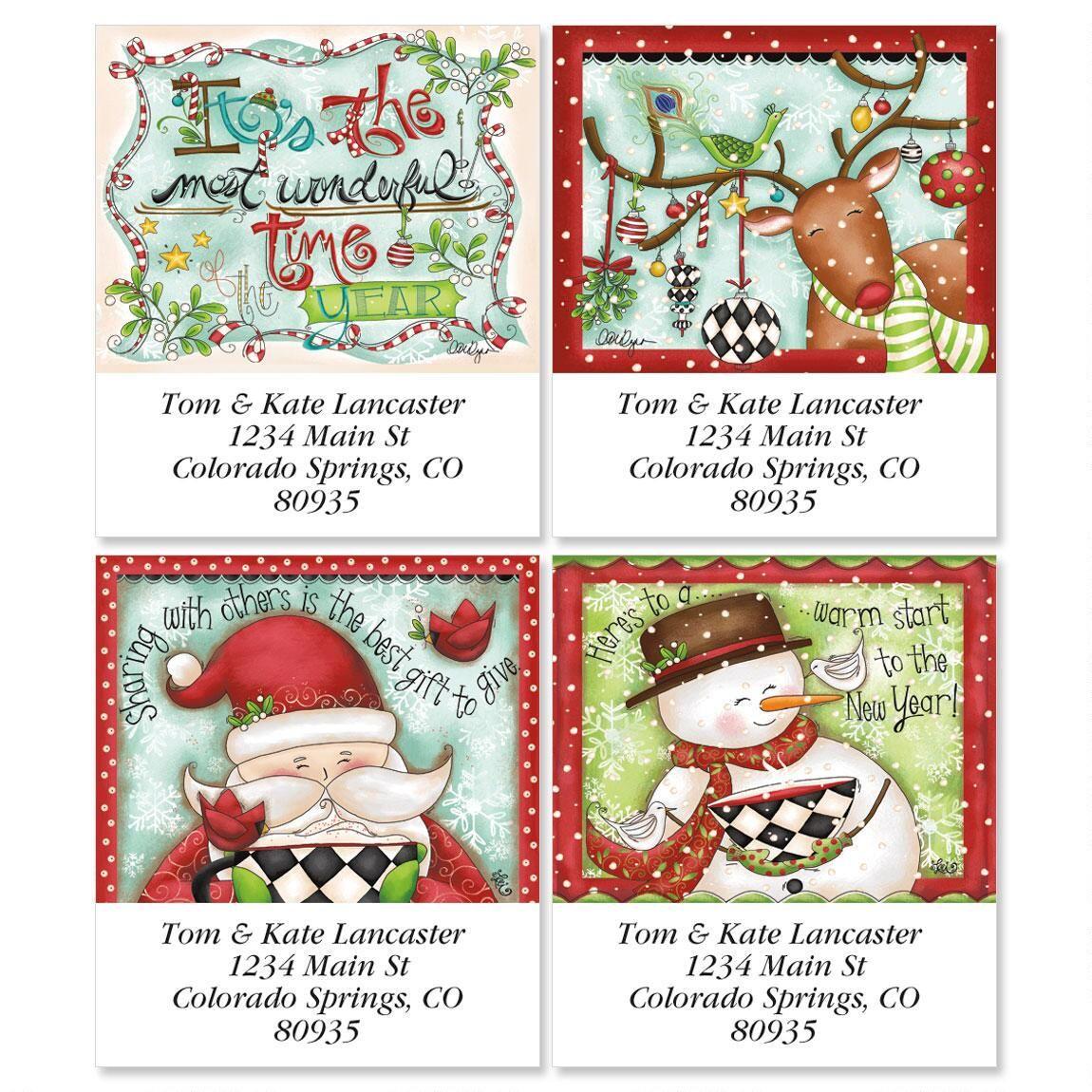 Reindeer Dressup Select Address Labels  (4 designs)