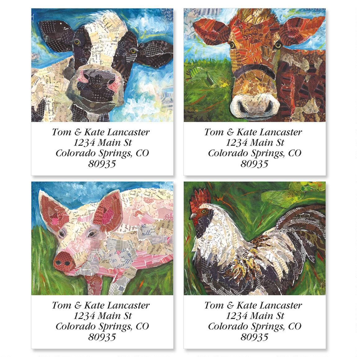 At the Farm Select Address Labels  (4 Designs)