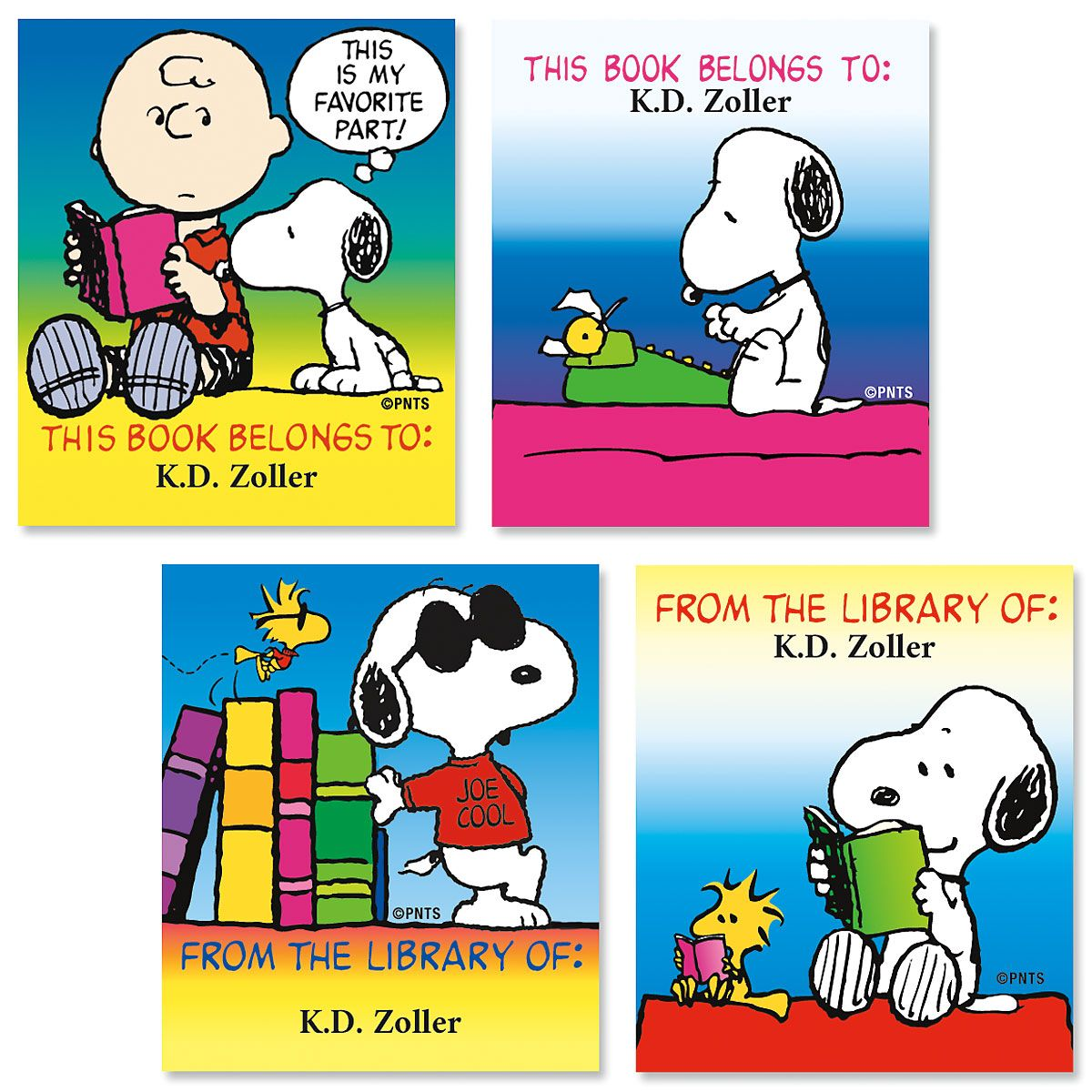 PEANUTS® Bookplate Labels  (4 Designs)
