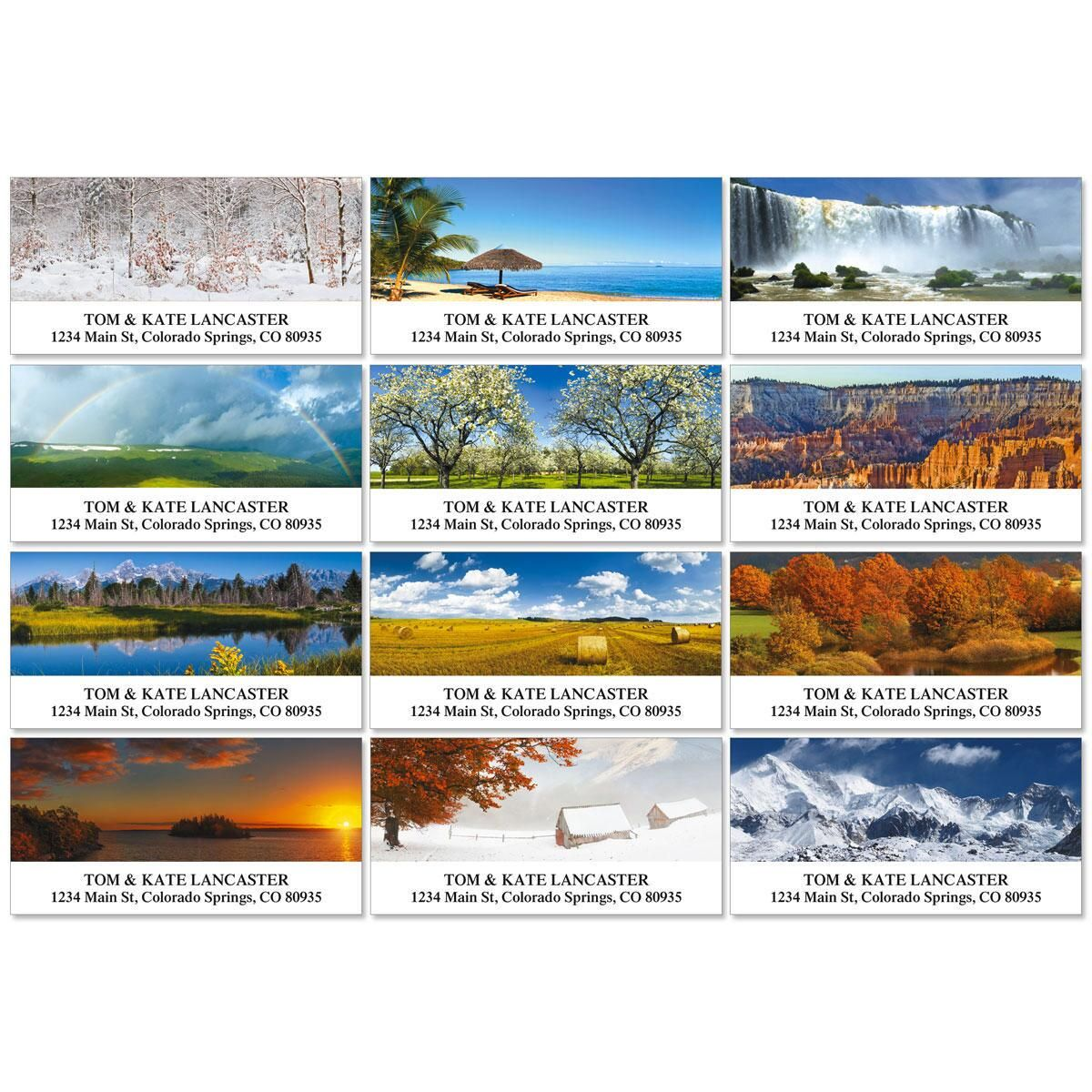 Naturescape Deluxe Address Labels  (12 designs)