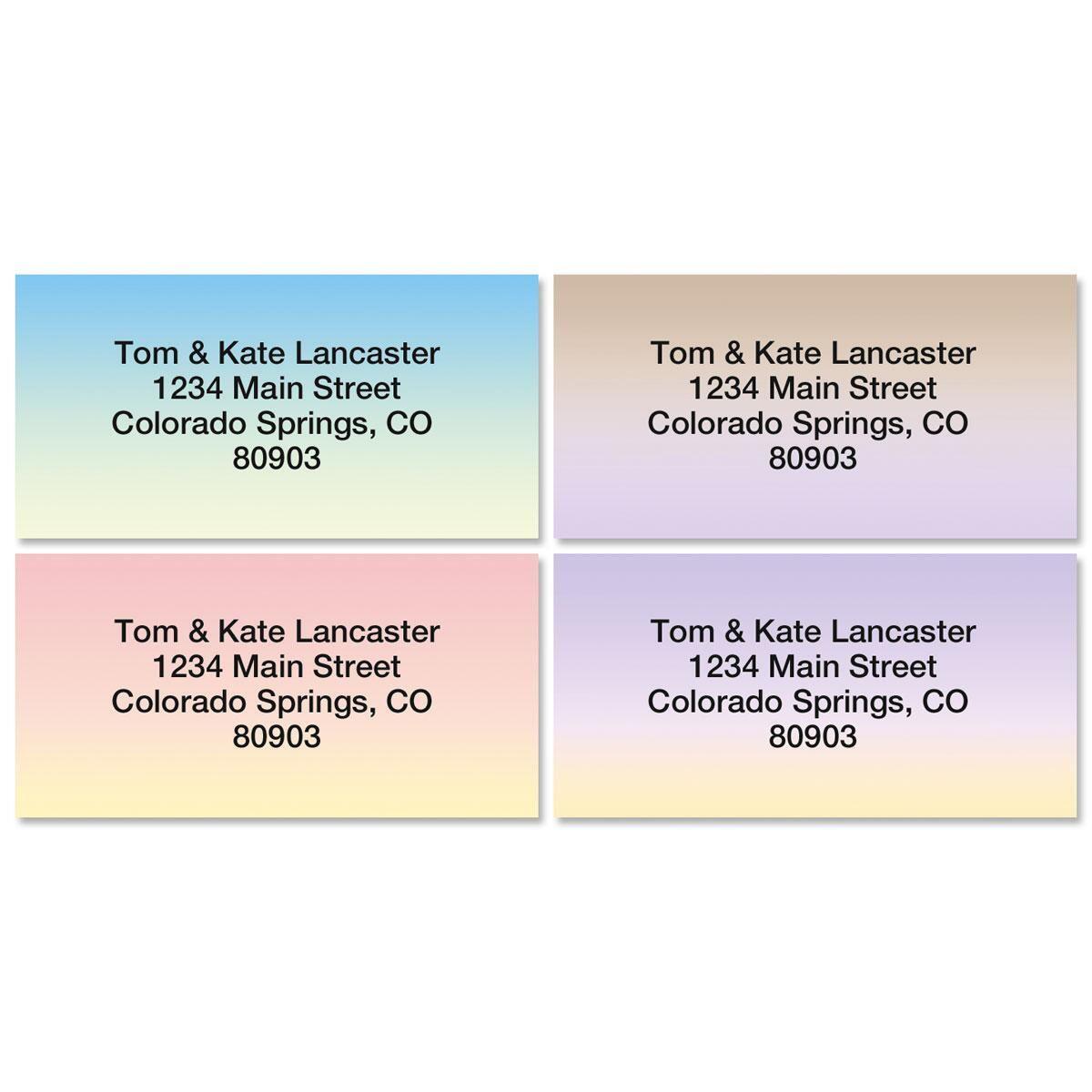 Ombre Address Labels  (4 designs)