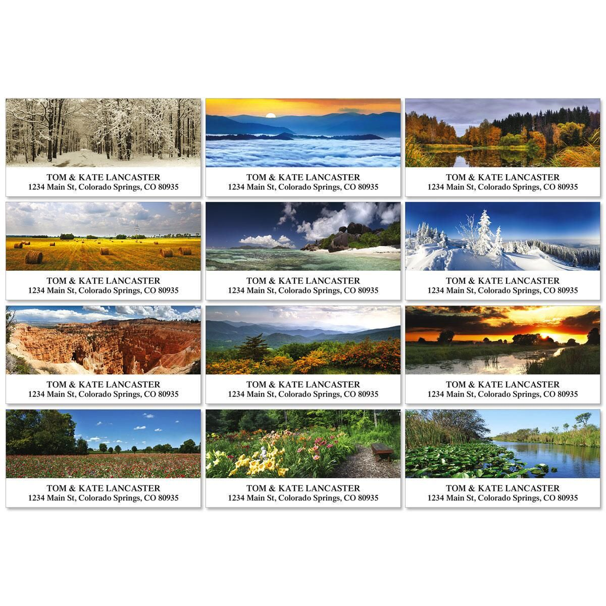 The Art of Nature Deluxe Address Labels  (12 Designs)