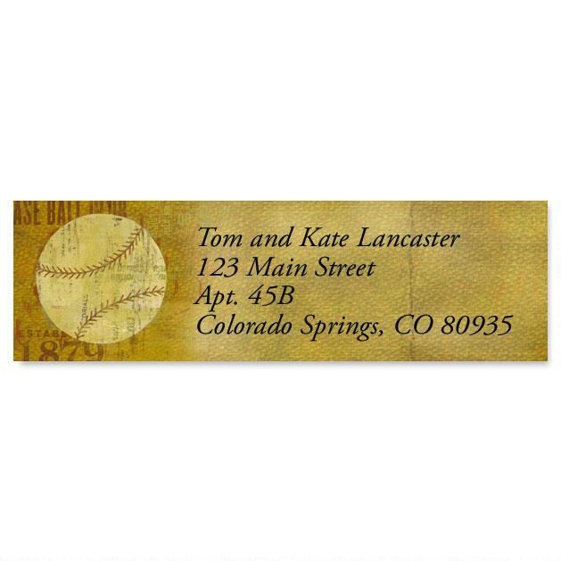 Sports Balls Classic Address Labels  (6 Designs)