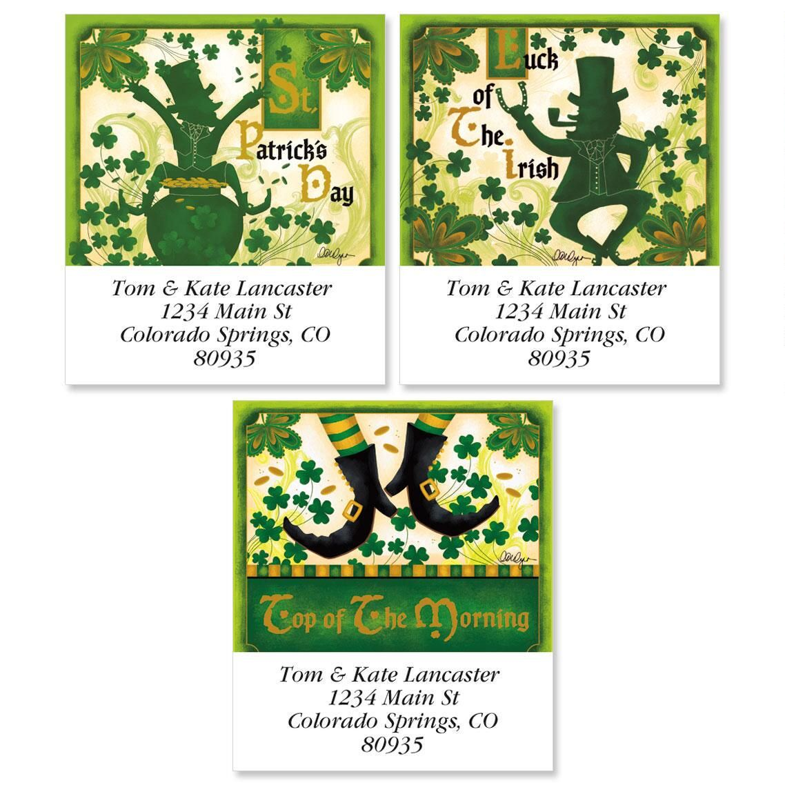 St. Patrick's Day Select Address Labels  (3 Designs)
