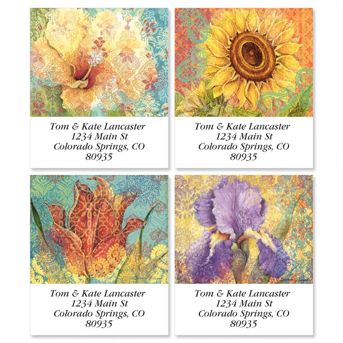 Elaborate Floral Select Address Labels  (4 designs)