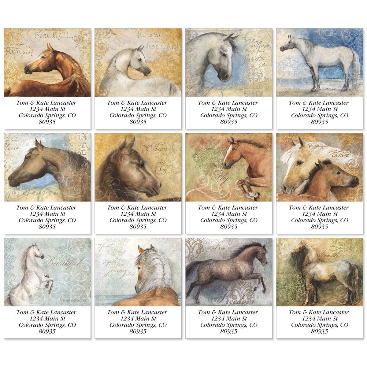 Heaven is Horses Select Address Labels  (12 designs)
