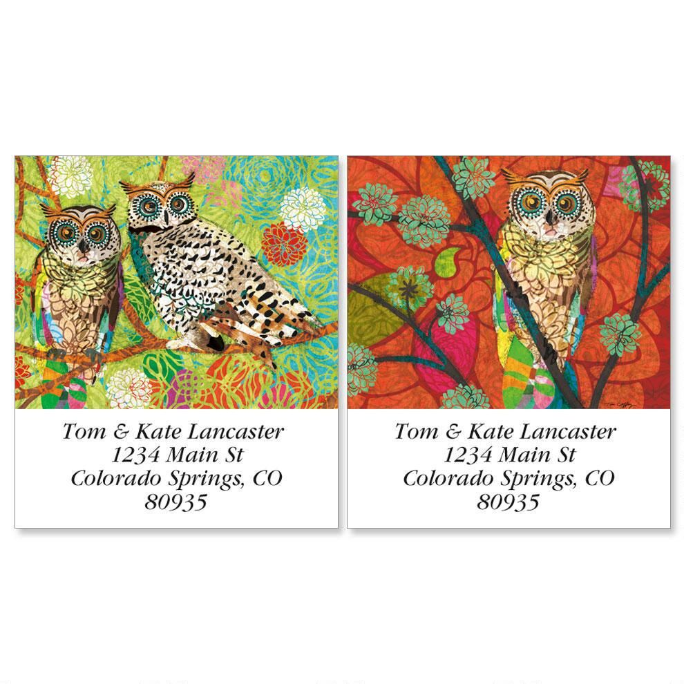 Mod Owl Select Address Labels  (2 designs)