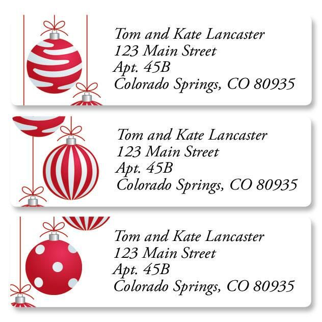 Crimson Delight Classic Address Labels  (3 Designs)