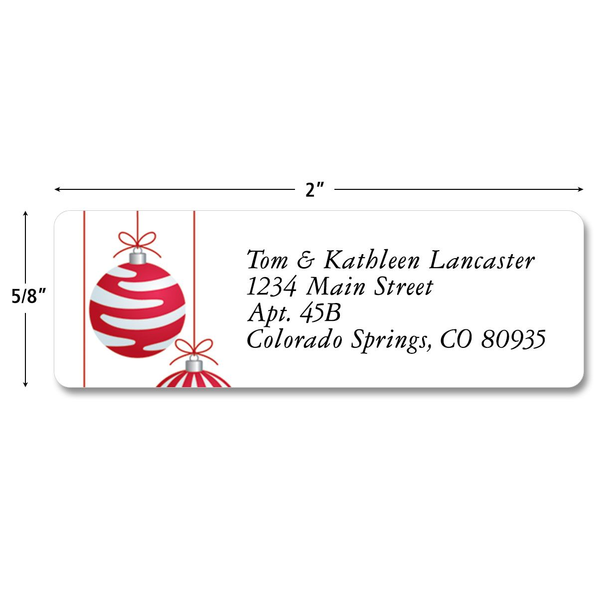 Crimson Delight Classic Address Labels  (3 Designs)