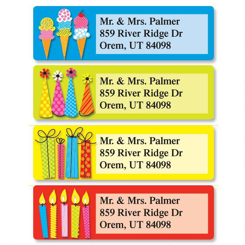 Bold Birthday Classic Address Labels  (4 Designs)