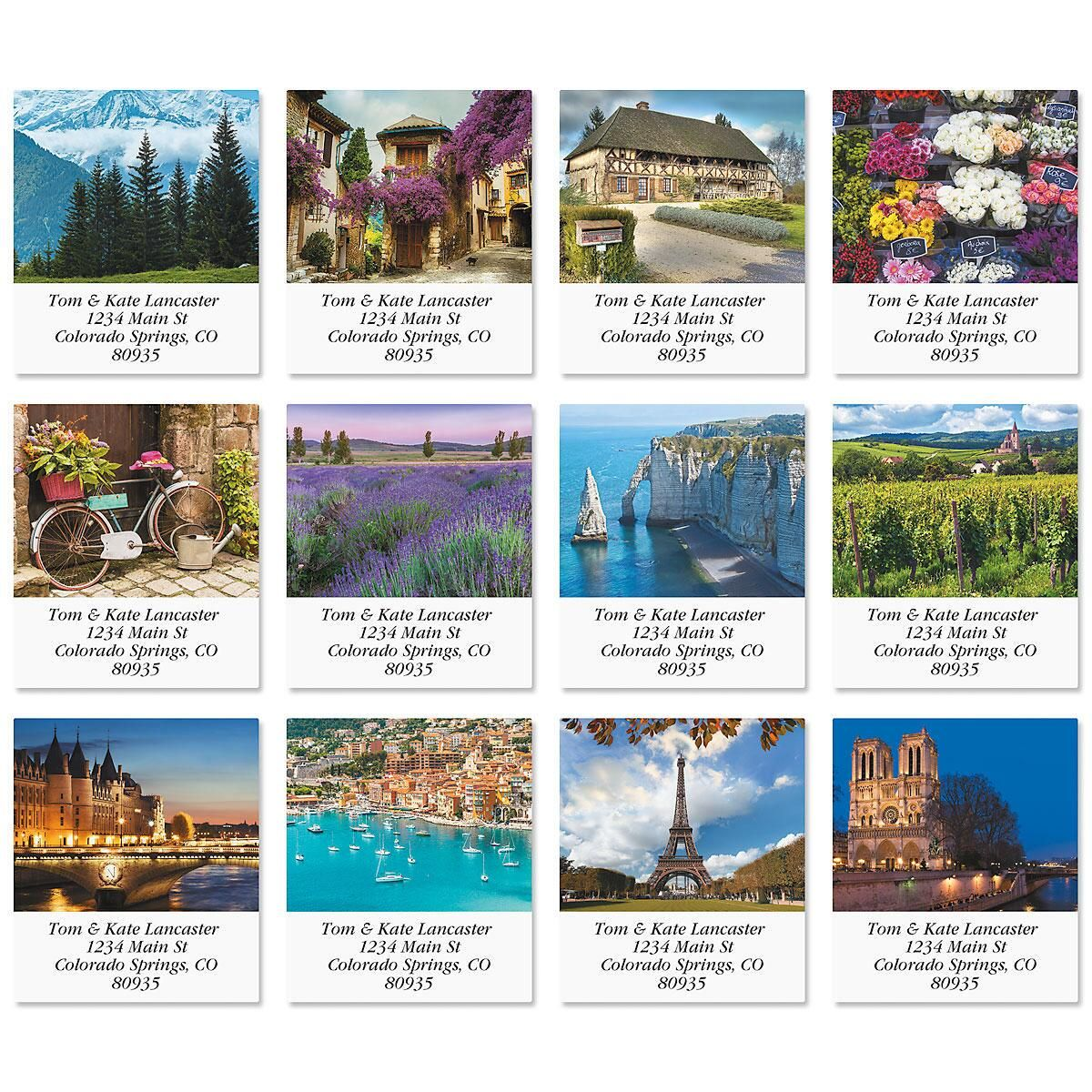 France Select Address Labels  (12 Designs)