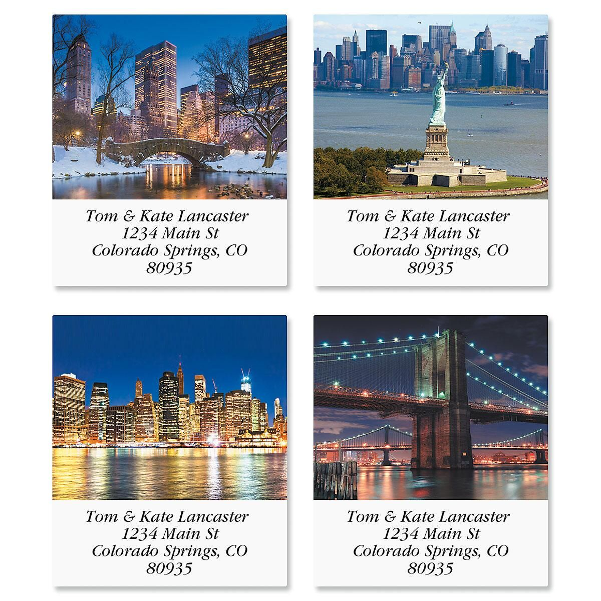 New York Select Address Labels  (4 Designs)