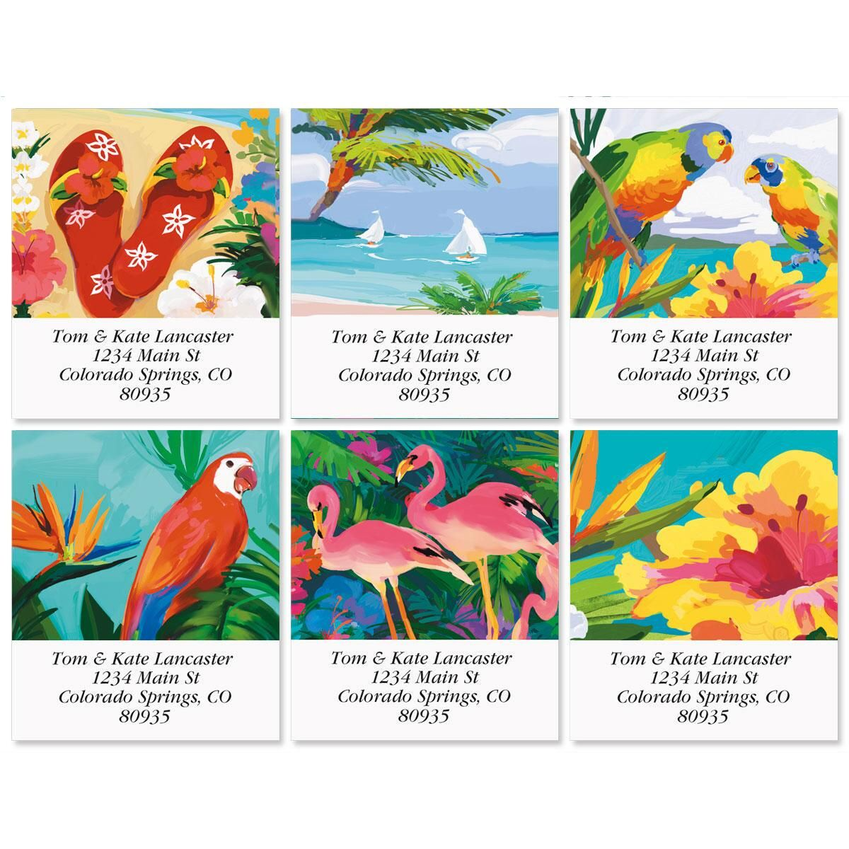 Tropicana Select Address Labels  (6 Designs)