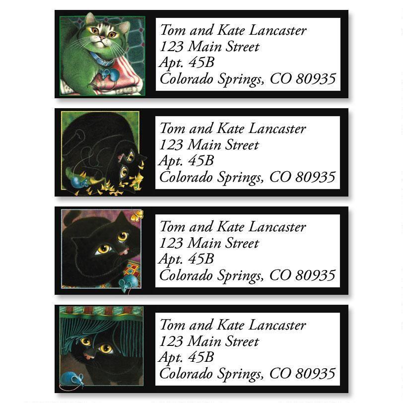 A Cat Never Tells Classic Address Labels  (4 Designs)