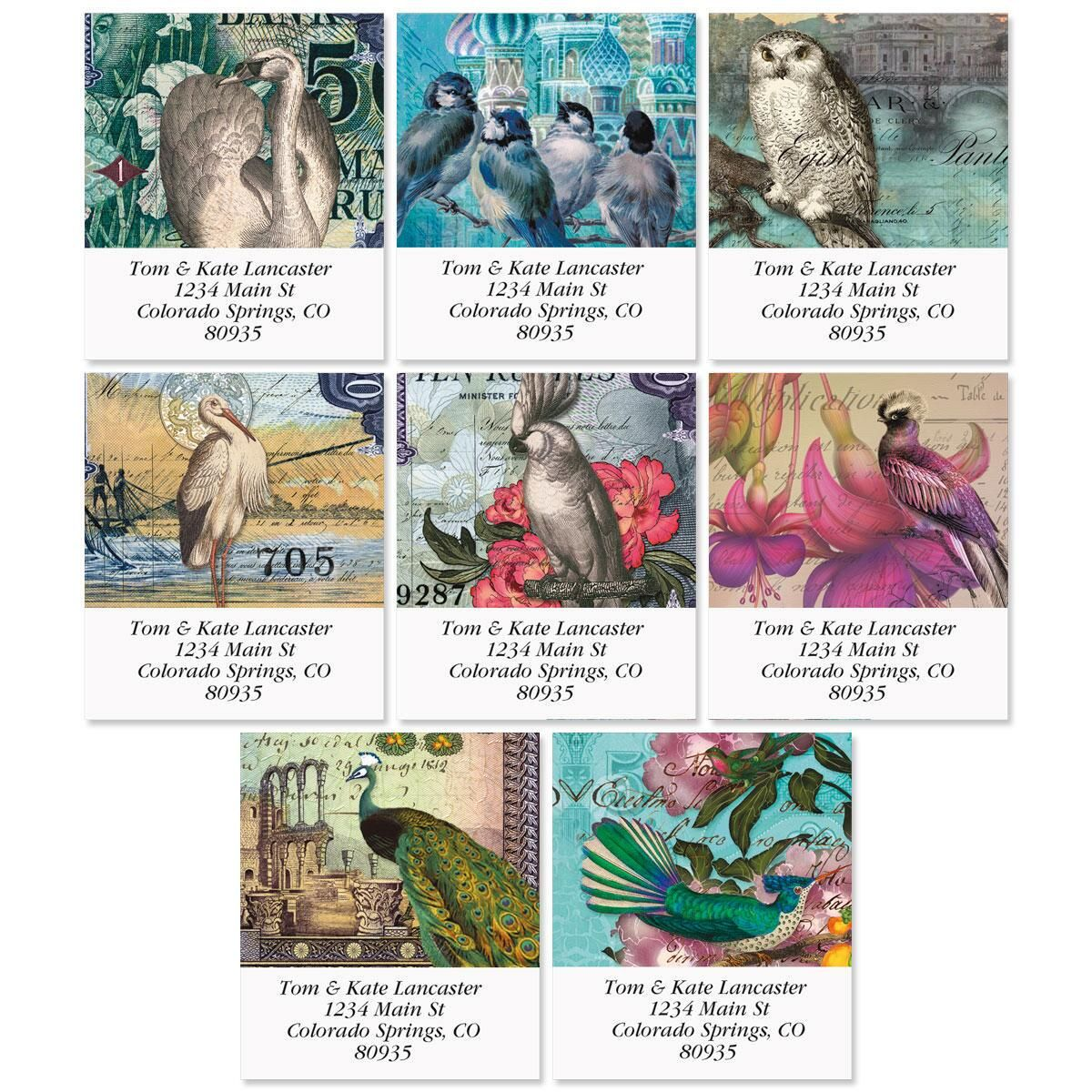 Birds of Finchley Select Address Labels  (8 Designs)