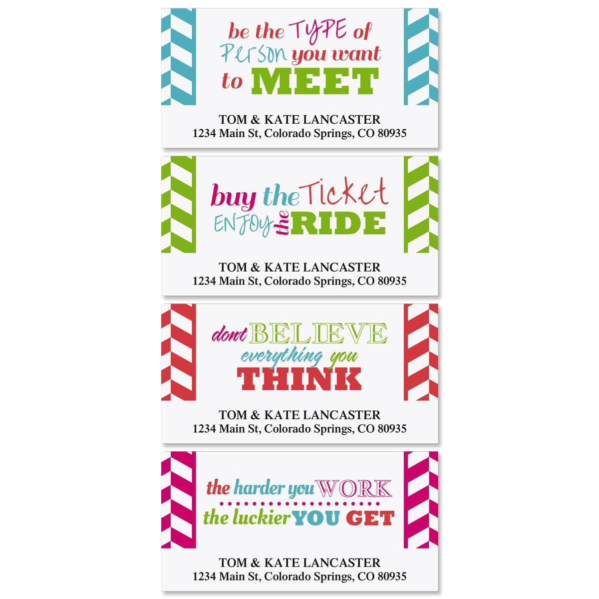 Happy Colors Deluxe Address Labels  (4 Designs)
