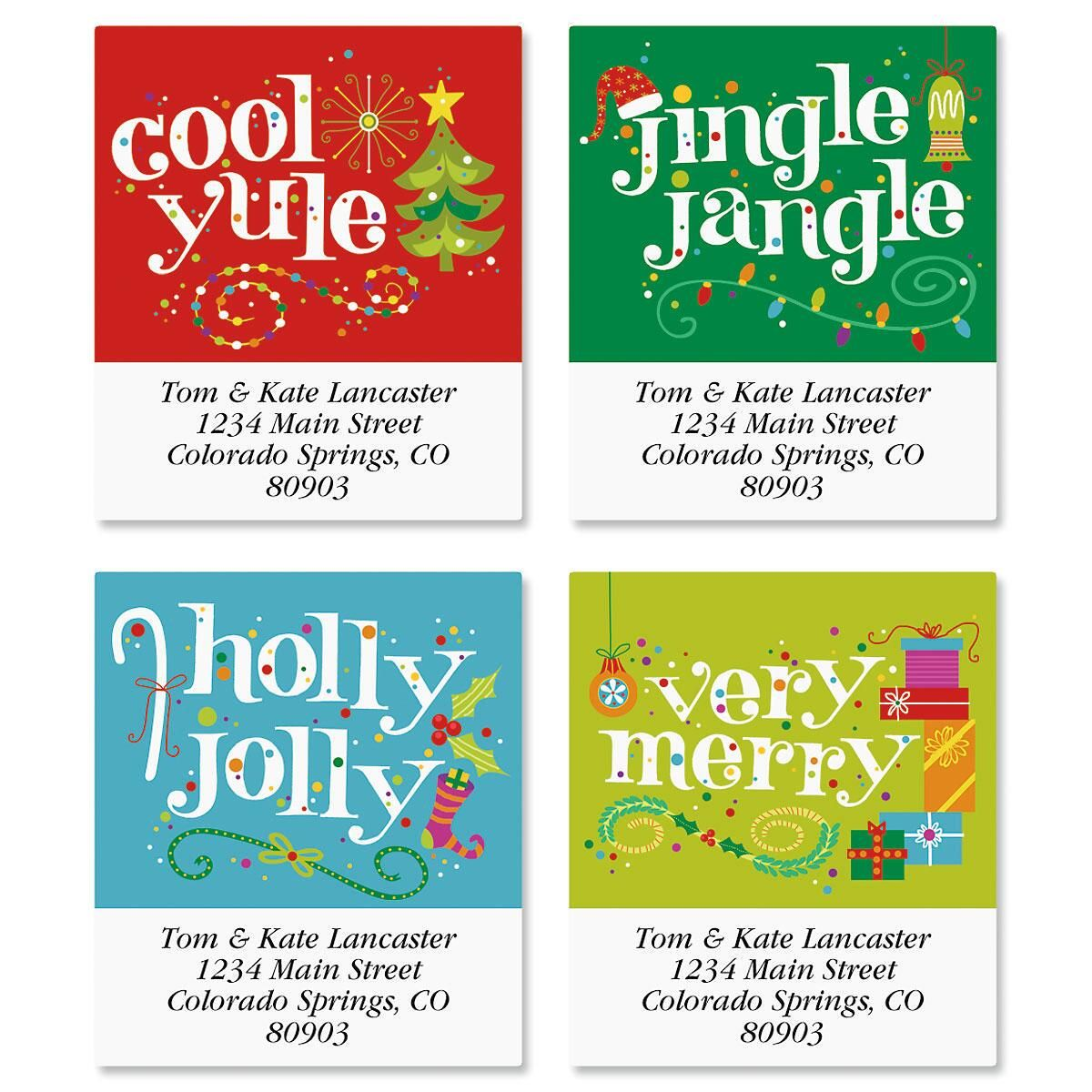 Cool Yule Select Address Labels  (4 Designs)