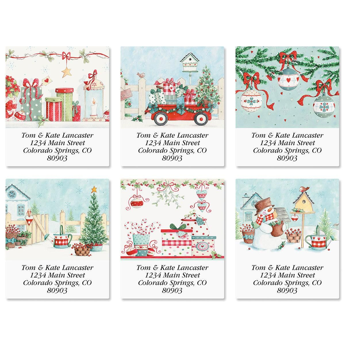 Blue Christmas Select Address Labels  (6 Designs)