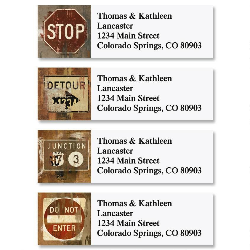 Street Signs Classic Address Labels  (4 Designs)