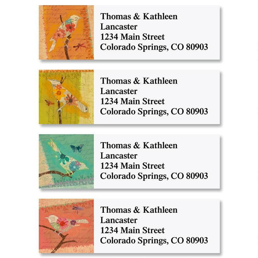 Tweet Silhouettes Classic Address Labels  (4 Designs)