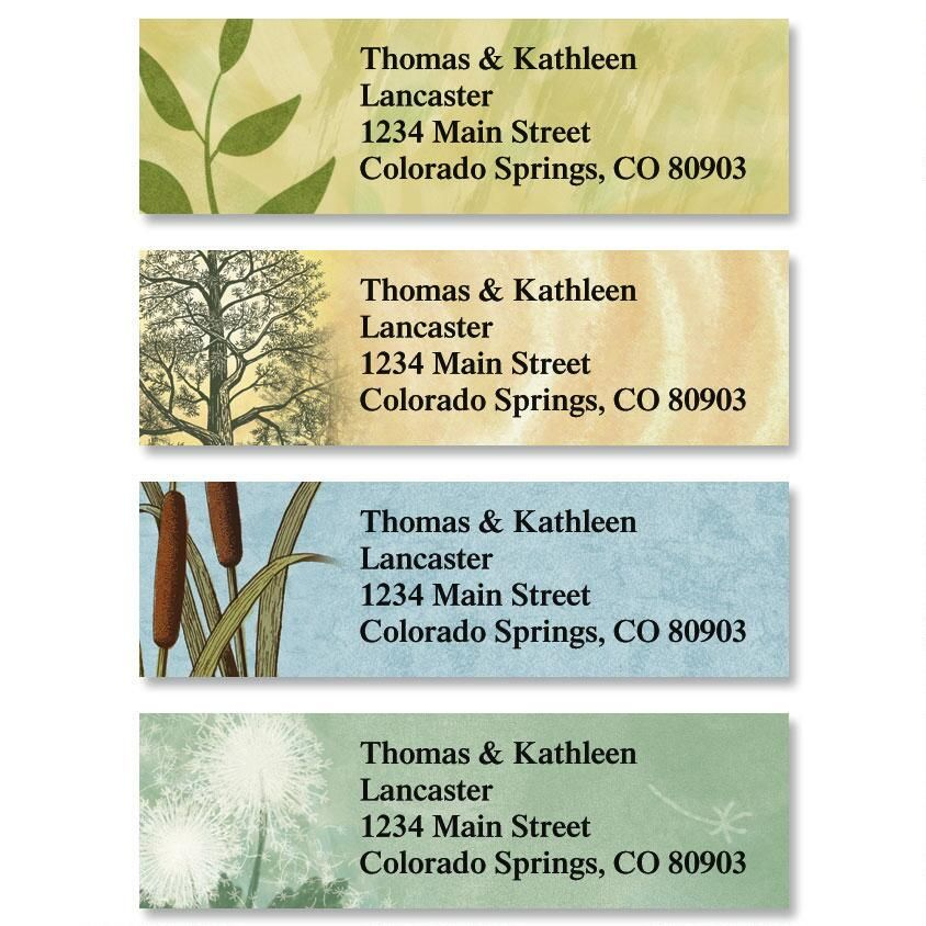 Textures Classic Address Labels  (4 Designs)