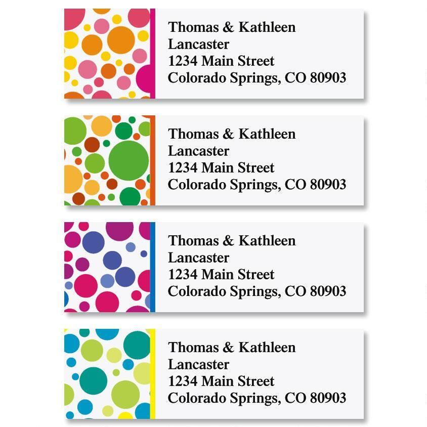 Bright Bubbles Classic Address Labels  (4 Designs)