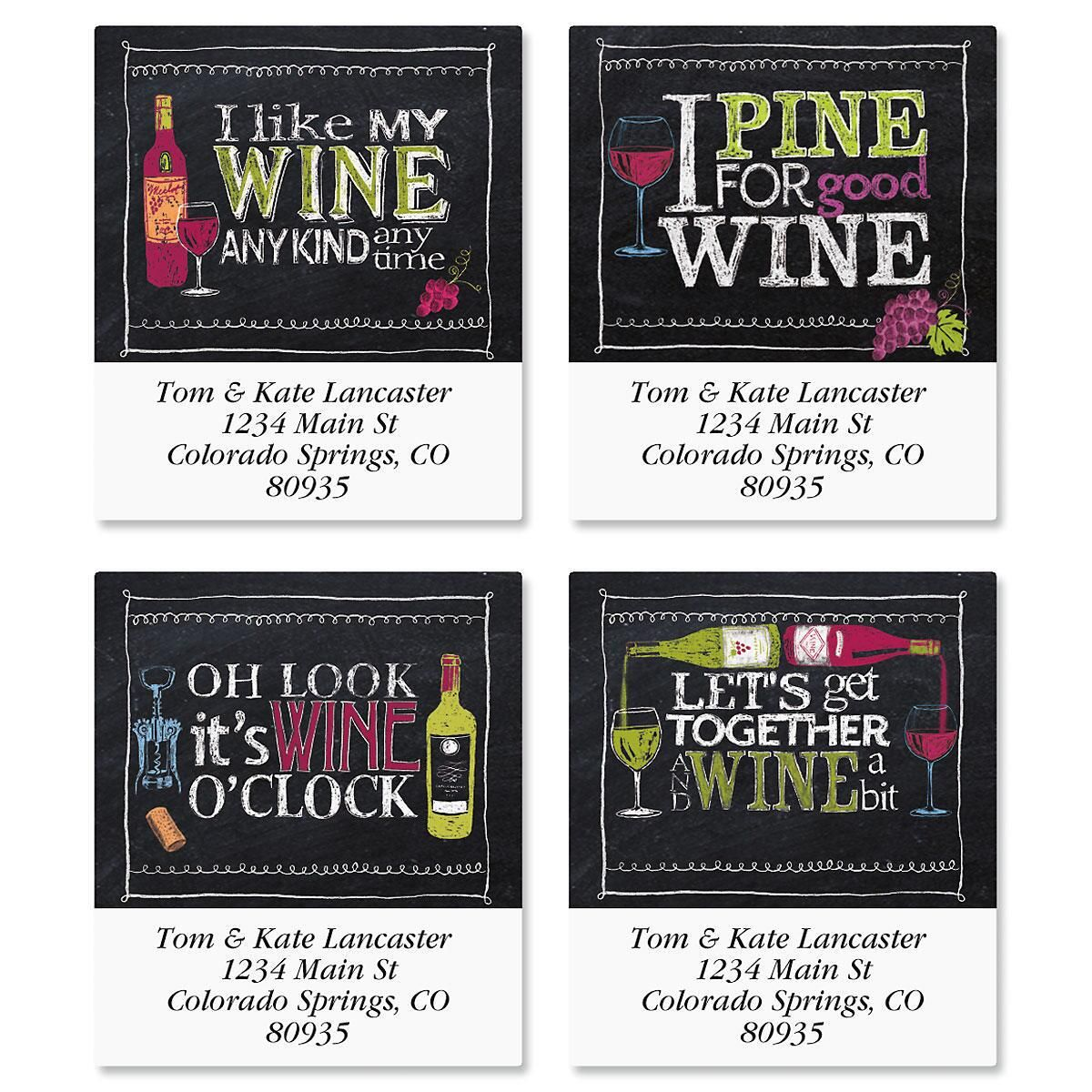 Wine Time Select Address Labels  (4 Designs)