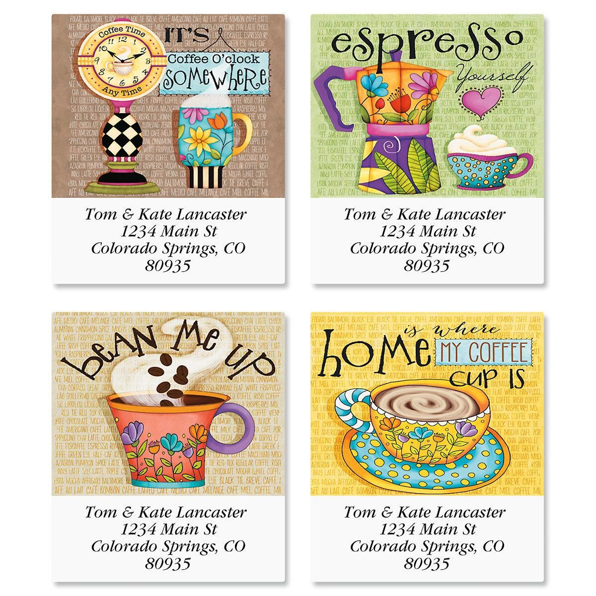 Coffee Select Address Labels  (4 Designs)