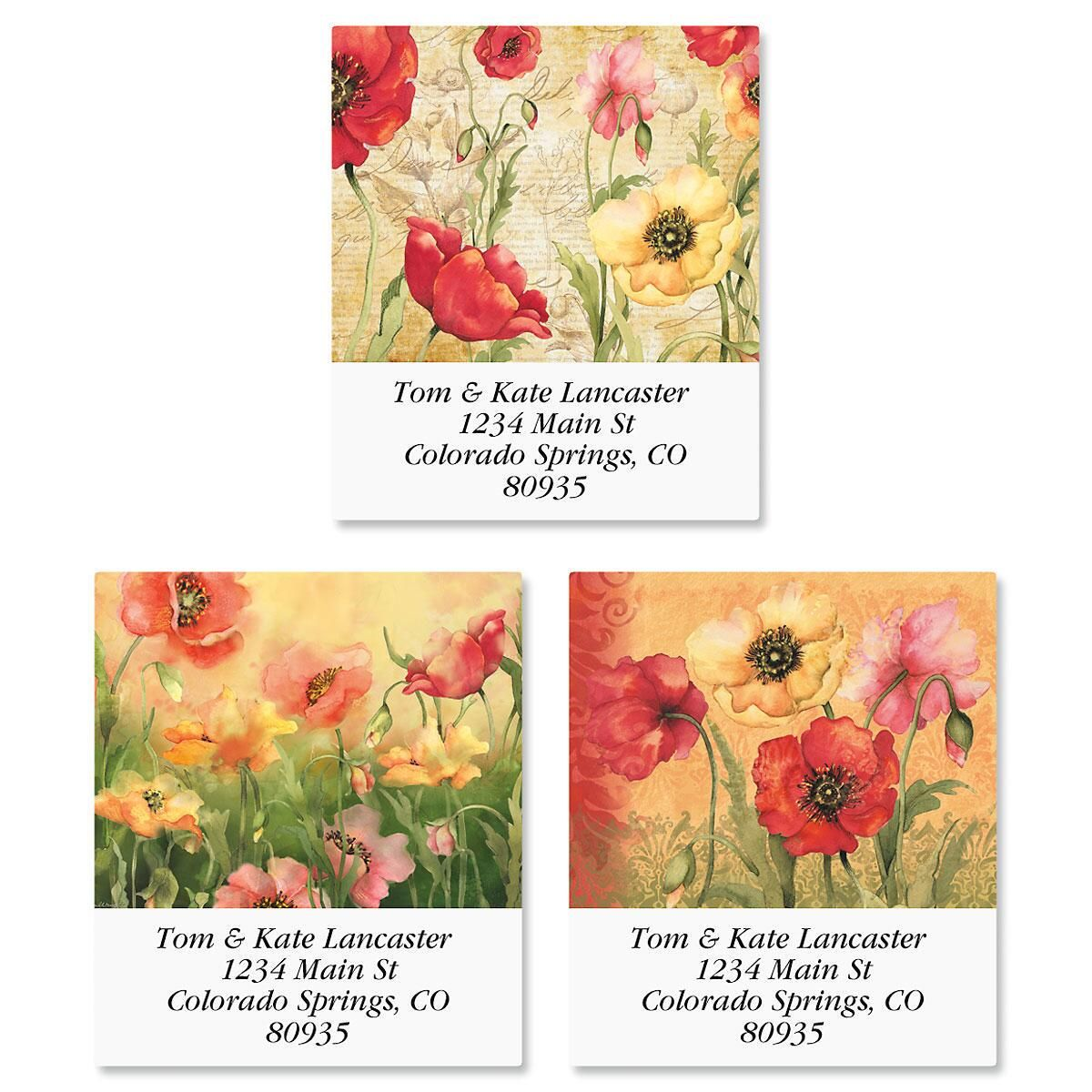 Poppies Select Address Labels  (3 Designs)
