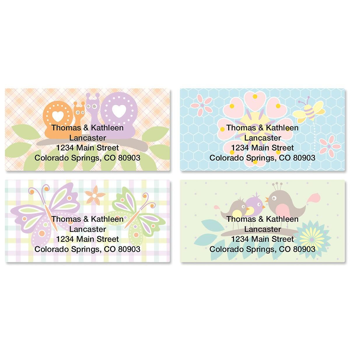 Springtime Border Address Labels