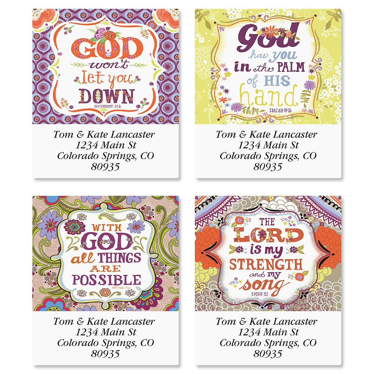 Inspired Select Address Labels  (4 Designs)
