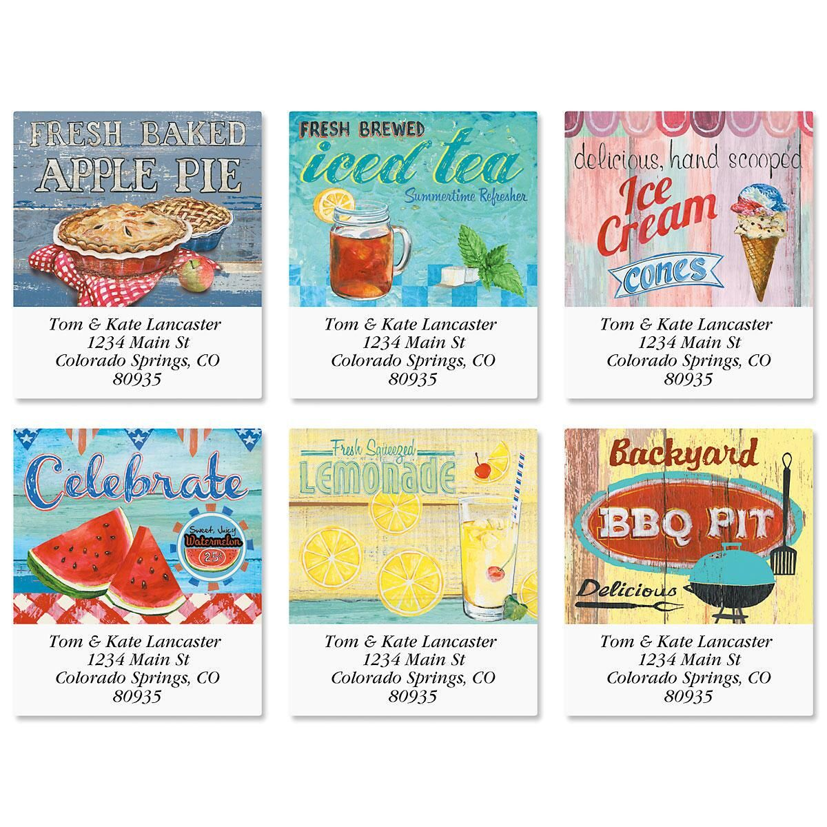 Americana Summer Select Address Labels  (6 Designs)