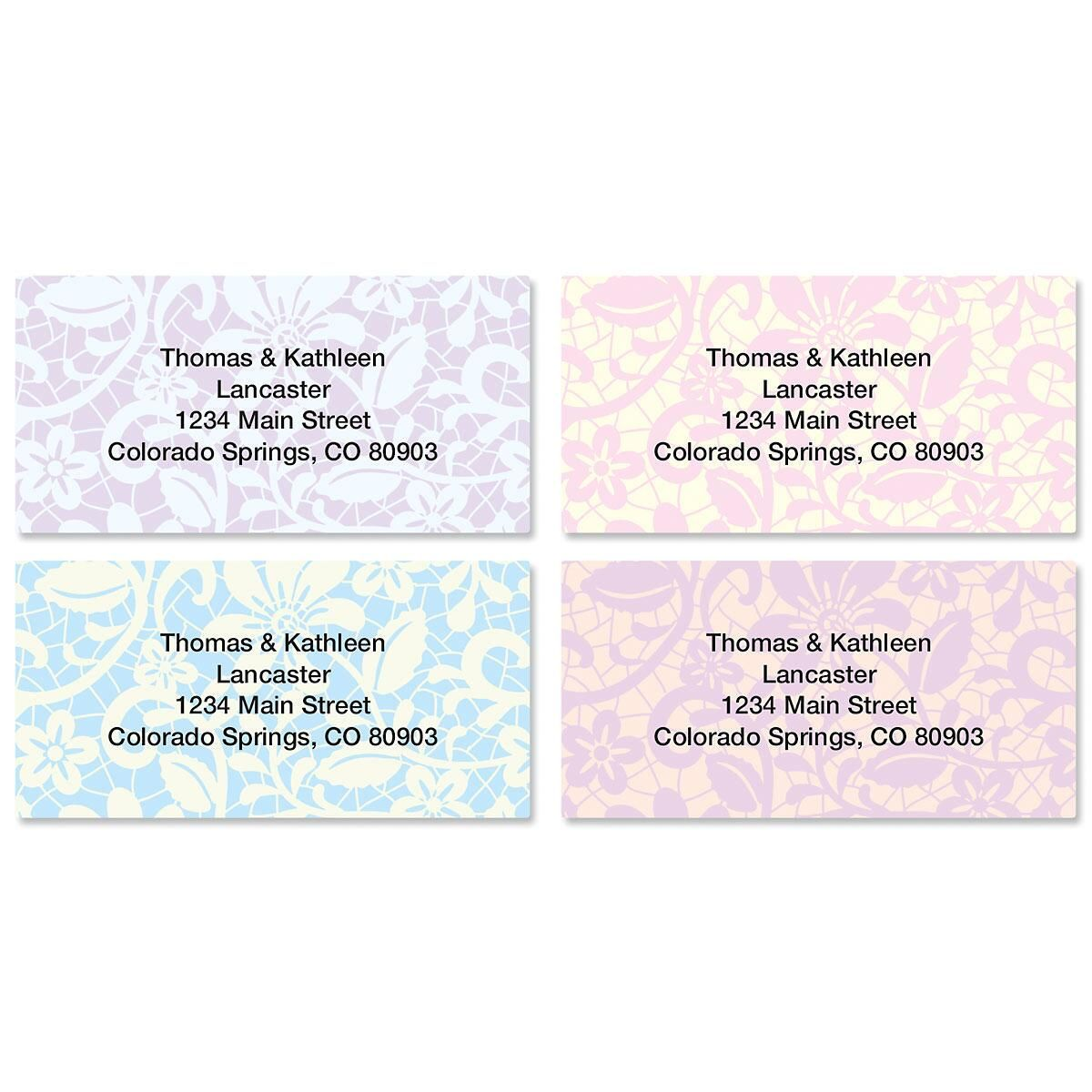 Lace Border Address Labels  (4 Designs)