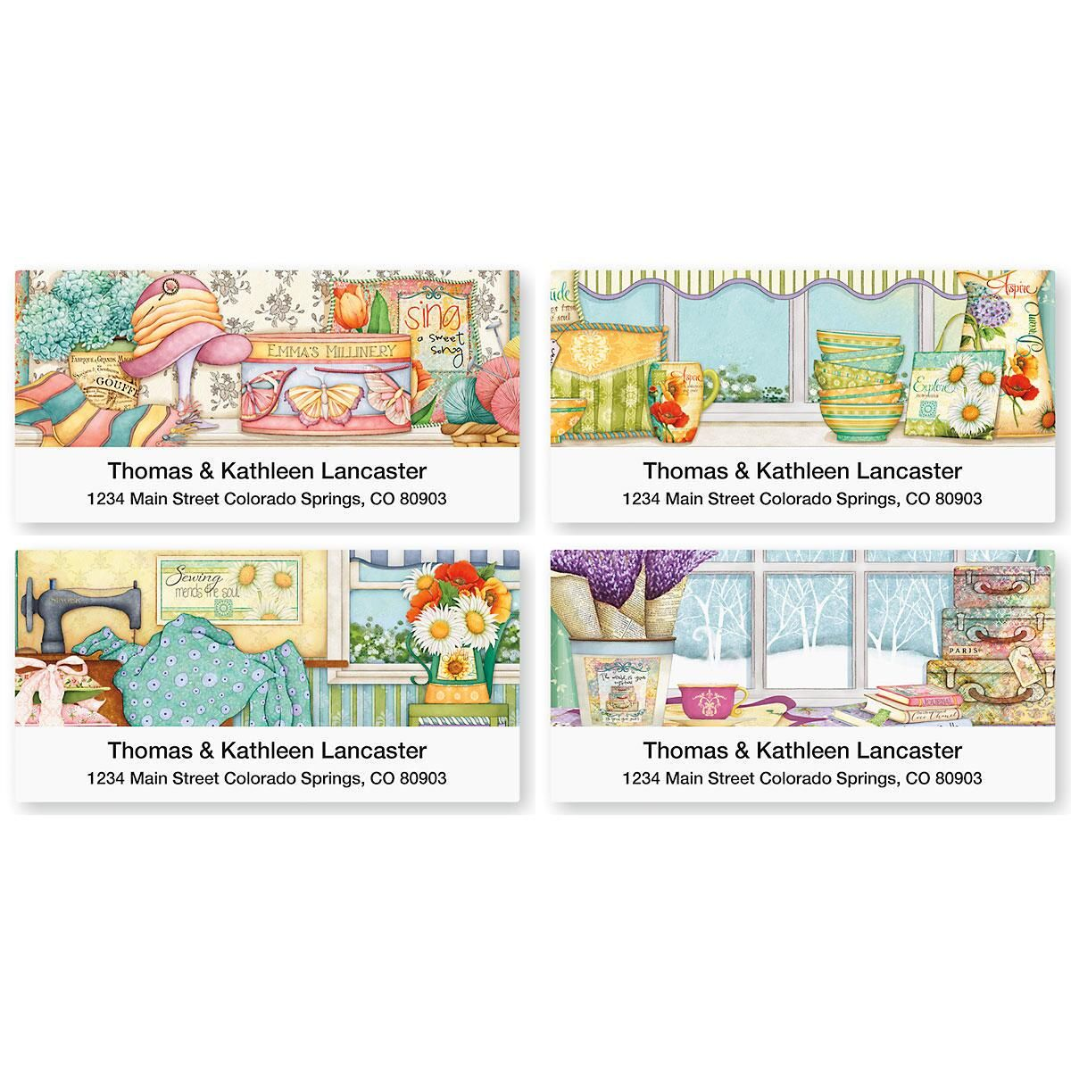 Cozy Comforts Deluxe Address Labels  (4 Designs)