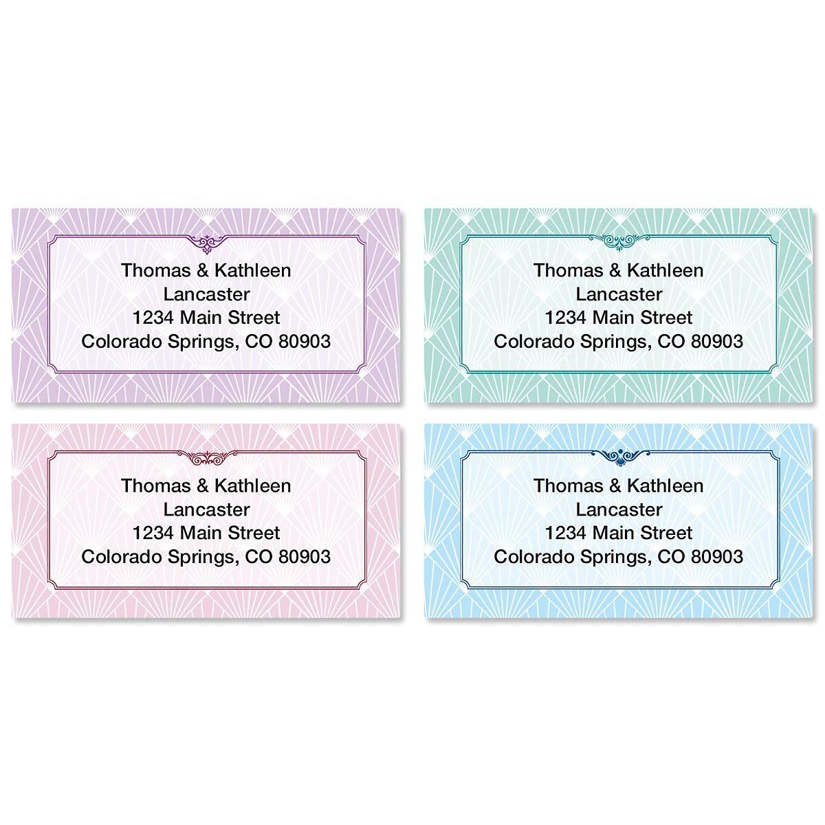 Art Deco Border Address Labels  (4 Designs)