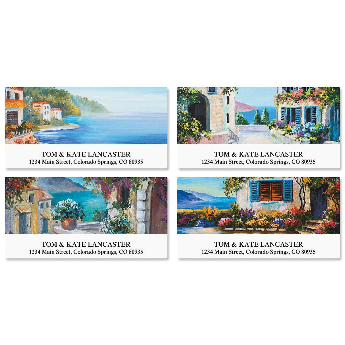 Seaside Retreat Deluxe Address Labels  (4 Designs)