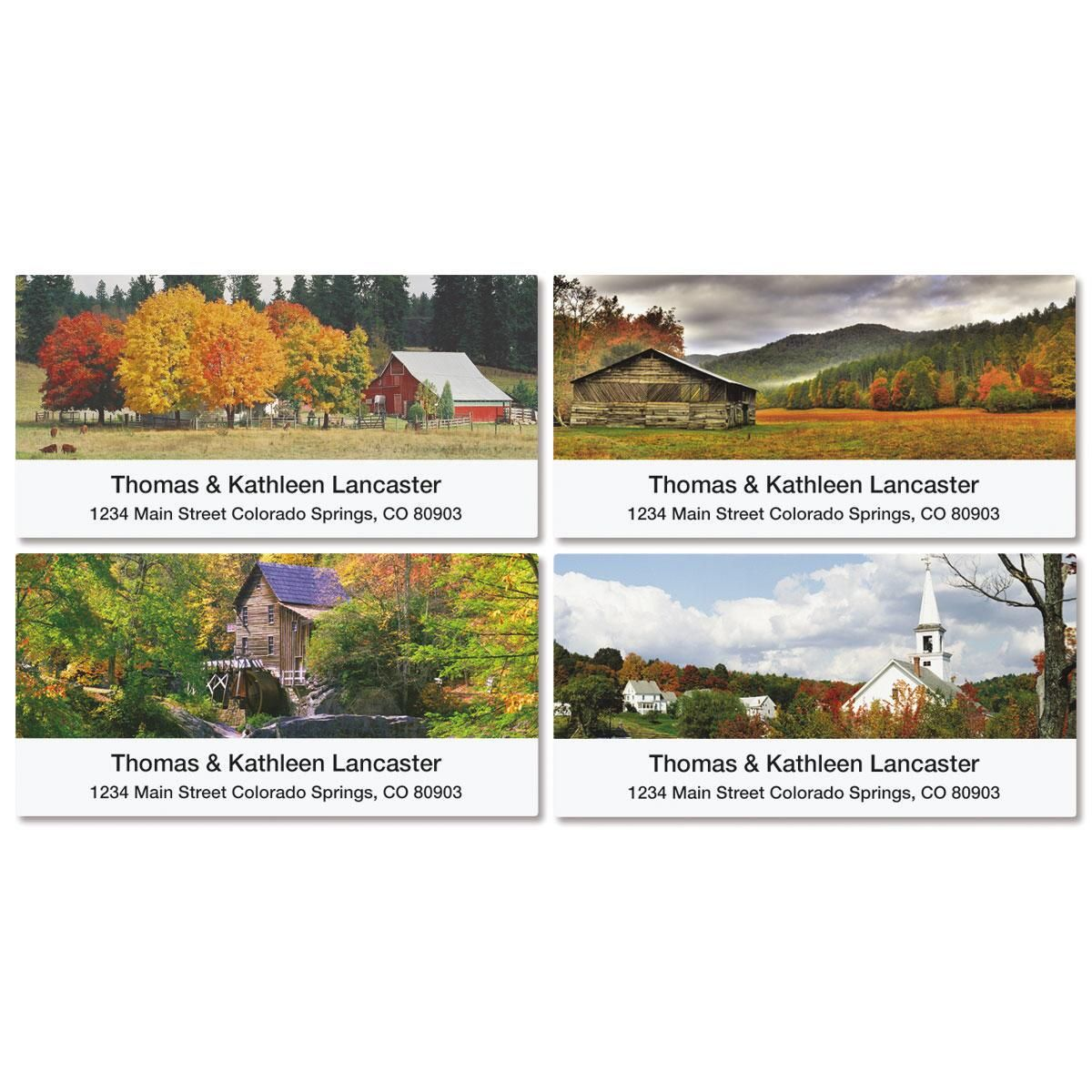 Rustic America Deluxe Address Labels  (4 Designs)
