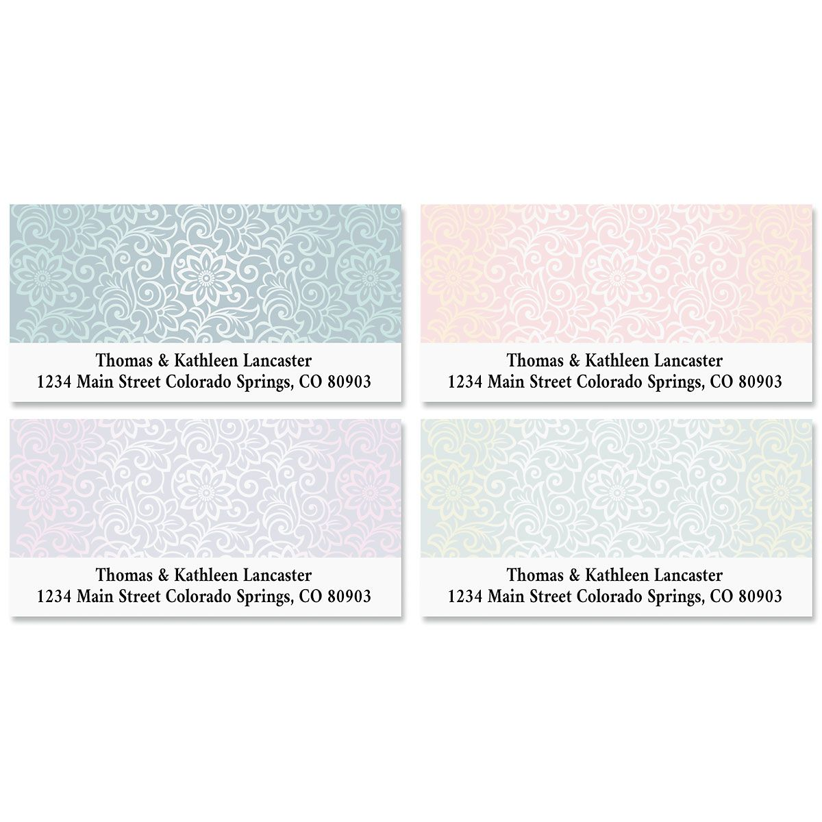 Royal Floral Deluxe Address Labels (4 Designs)