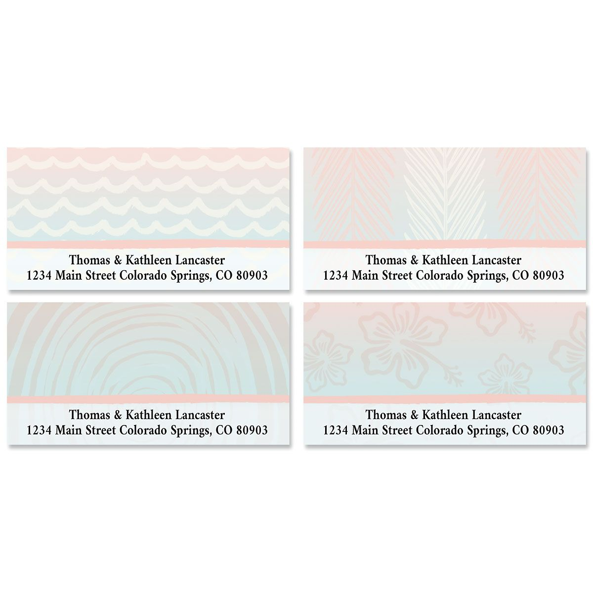 Tropical Escape Deluxe Address Labels (4 Designs)