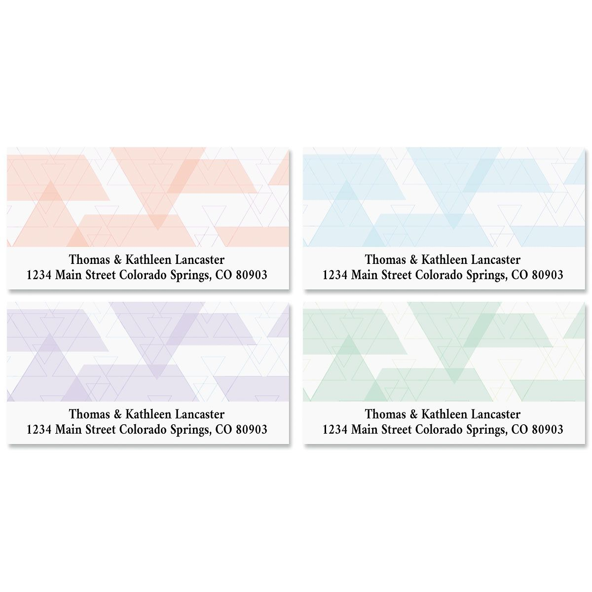 Triangle Print Deluxe Address Labels (4 Designs)
