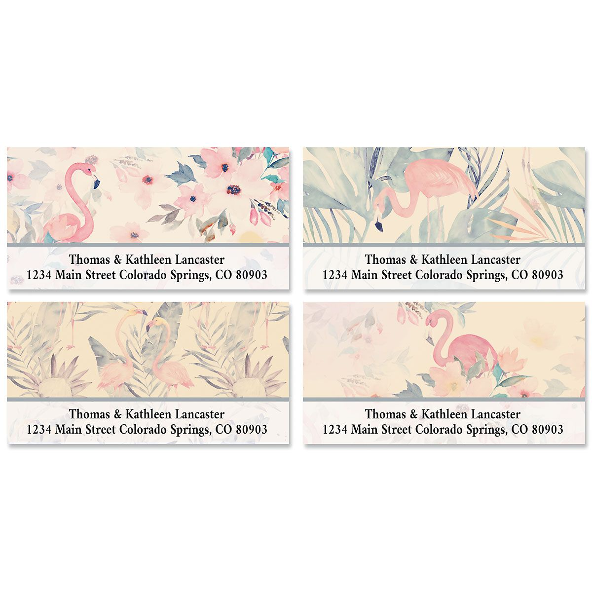 Flamingo Deluxe Address Labels (4 Designs)