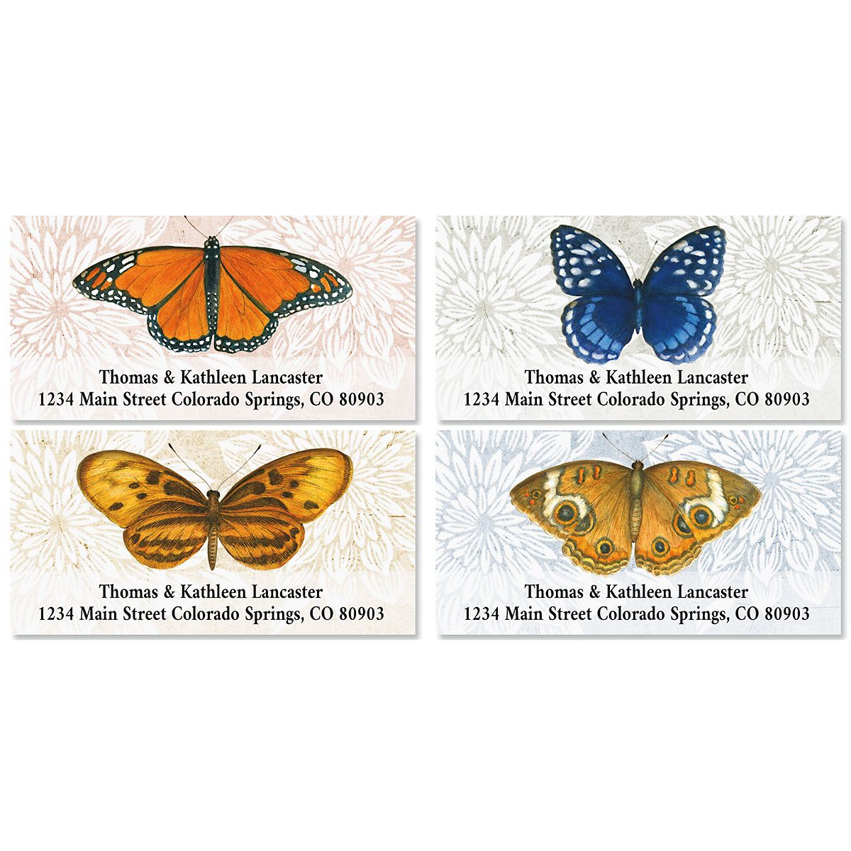 Natural Butterfly Deluxe Address Labels (4 Designs)