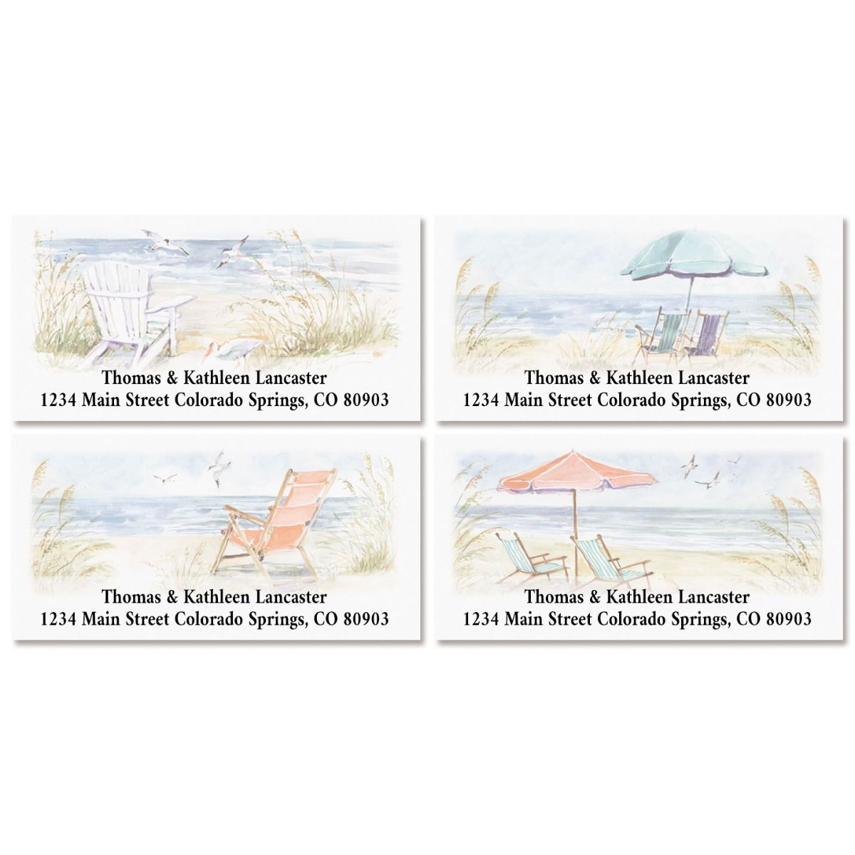 By the Sea Deluxe Address Labels